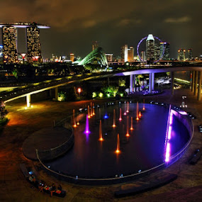 Newater Singapore by Agung A - Buildings & Architecture Other Exteriors ( night landscape city marina singapore )