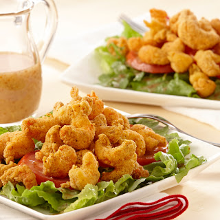 Fried Crawfish Salad.