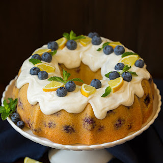 Lemon Blueberry Bundt Cake with Lemon Cream Cheese Icing