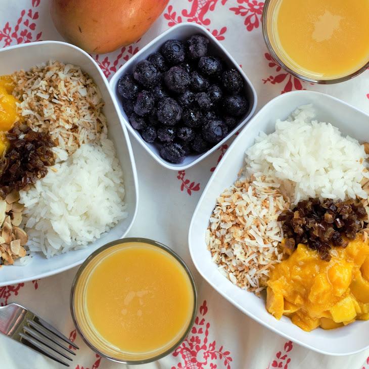 Mango Coconut Breakfast Bowls