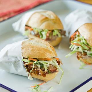 Barbecue Pork Sandwich with Crispy Slaw