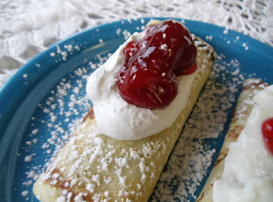 Crepes for Valentines day by freda Recipe