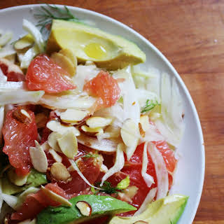 Fennel Salad with Grapefruit, Avocado and Almonds.