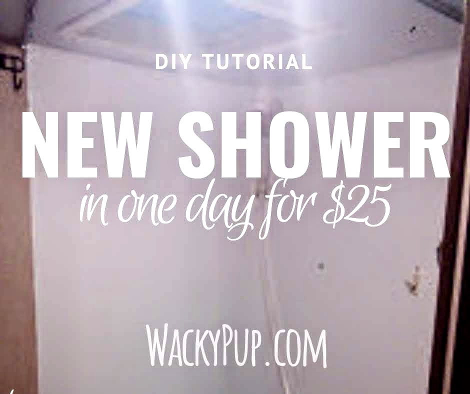 Great Shower Upgrade for $20 AMAZING! A ton of great ideas for organizing and remodeling campers and small spaces!