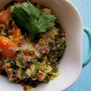 Quinoa and Red Lentil Kitchari.