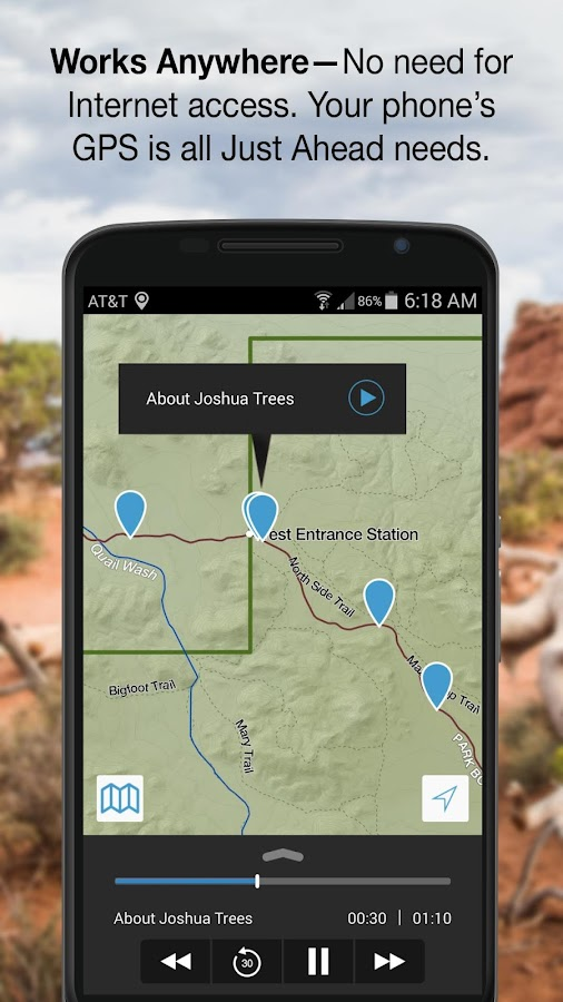 Just Ahead: Audio Tour Guides- screenshot