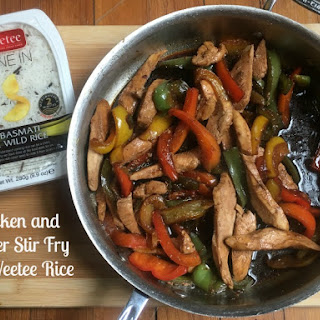 Chicken and Pepper Stir Fry with Veetee Rice