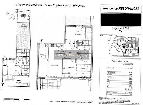 Vente appartement 2 pièces 45,52 m2