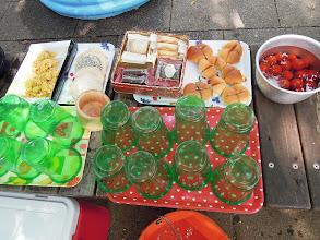 Photo: スタート時は、アンパンなど朝ご飯のエイド