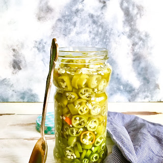 Fridge Pickled Jalapeno Peppers.