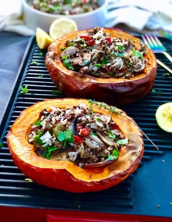 Three Grains, Mushrooms With Fresh Herbs And Onion Recipe