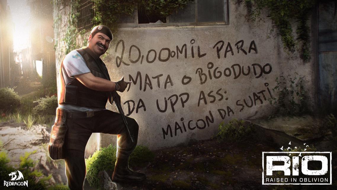 Arte do RIO: Raised in Oblivion, do Bigodudo da UPP