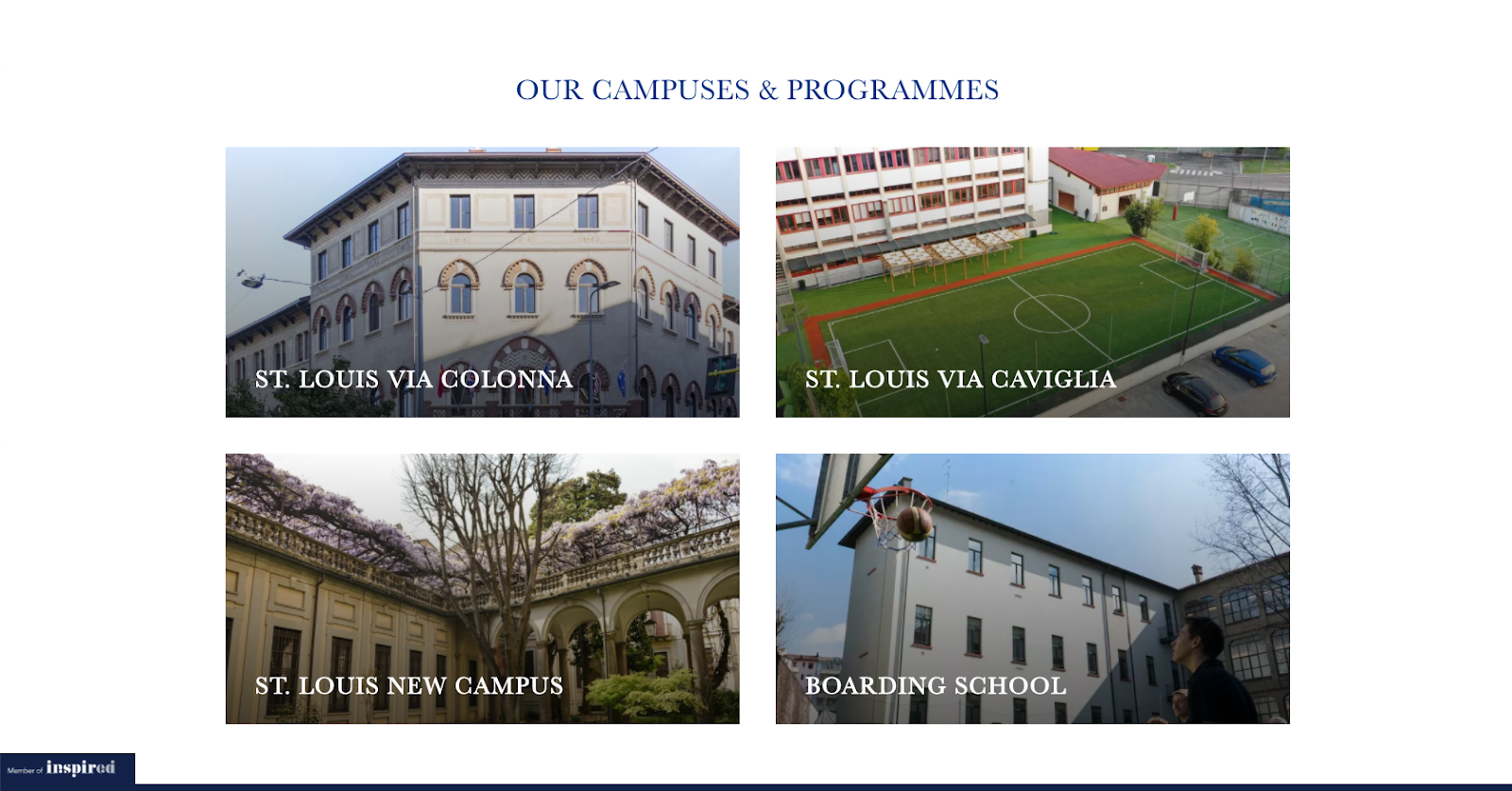 St. Louis School of Milan campus images