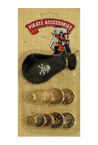 Piratpåse med guldpengar