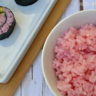 Pink Sushi Rice.
