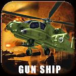 Gunship Helicopter 3D Strike Icon