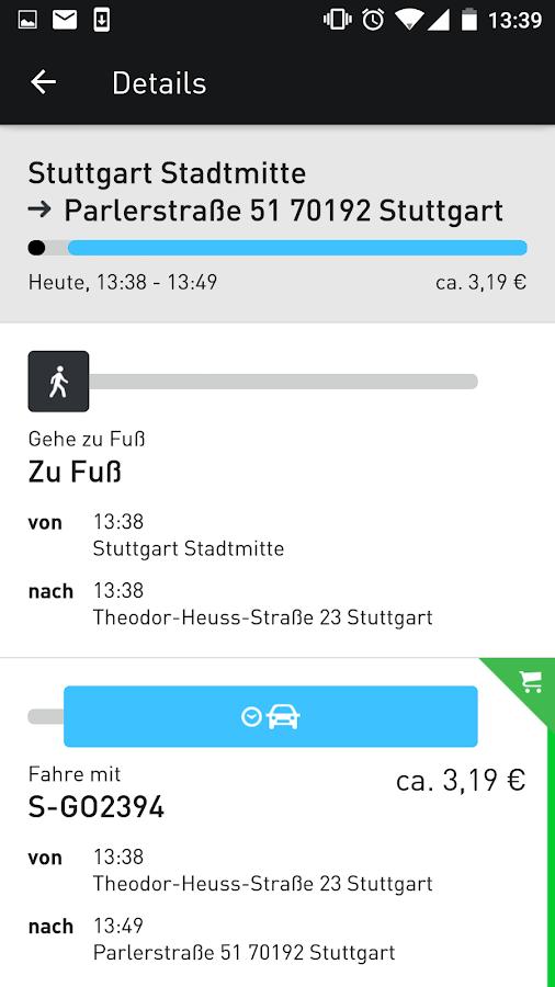 moovel - Route planner- screenshot