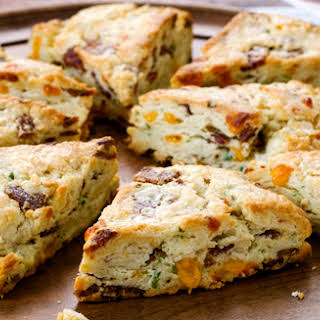 Bacon Scones with Cheddar and Scallions.