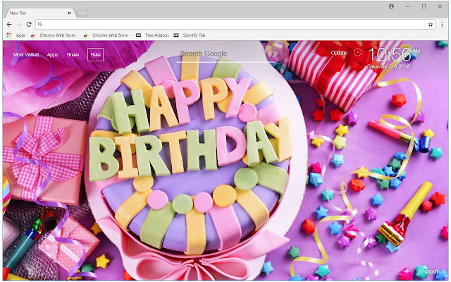 Birthday HD Wallpaper Birthday New Tab Themes