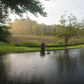 by Ben Porway - Landscapes Prairies, Meadows & Fields ( water, clouds, peaceful, alan, wideangle, longmeadow, green, plants, marsh, meadows, storm, landscape, field, lightning, friends, sky, foliage, nature.natural, outside, rain )