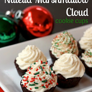 Flourless Nutella Marshmallow Cloud Cookie Cups