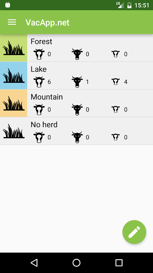 VacApp - Cattle management- screenshot