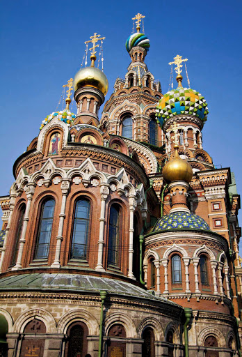The Church of the Savior on Spilled Blood in St. Petersburg, Russia.