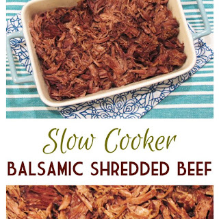 Slow Cooker Balsamic Shredded Beef