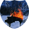 Fiery music in the rain LWP icon
