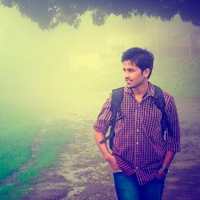 A Walk In The Fog by Kartik Wat - People Portraits of Men