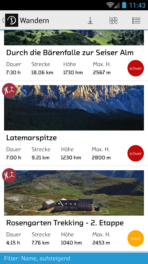 sentres South Tyrol- screenshot
