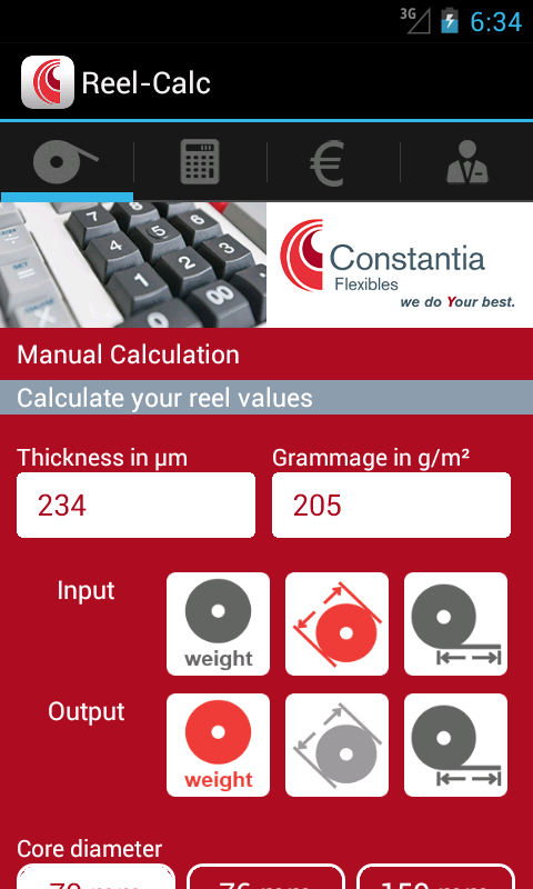 Reel-Calculator – Screenshot