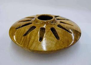 """Photo: David Jacobowitz - """"Sunburst"""", ambrosia-maple, carved hollowform, 7.5""""x2.5"""""""