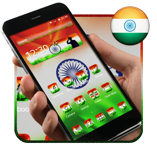 Elegant Indian Flag Launcher