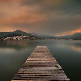 Until the dark by Nikos Koutoulas - Landscapes Waterscapes ( water, clouds, greece, lake, σύννεφα, sunset, club, kastoria, ελλάδα, καστοριά, nautical, rain, λίμνη )