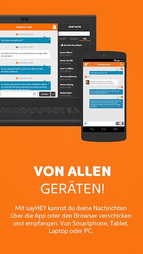 sayHEY gratis Messenger & SMS screenshot 1