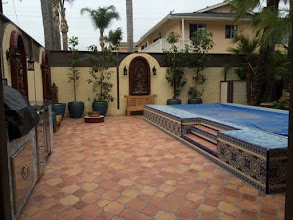 Photo: Malibu Tile Works - BBQ & Pool Edge - Private Residence - Long Beach, CA