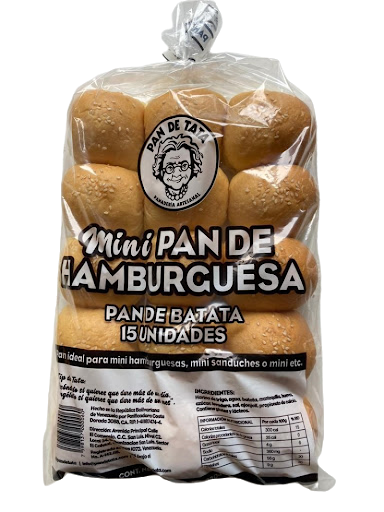 Pan Hamburguesa Tata Mini 15 Unidades Pan Tata