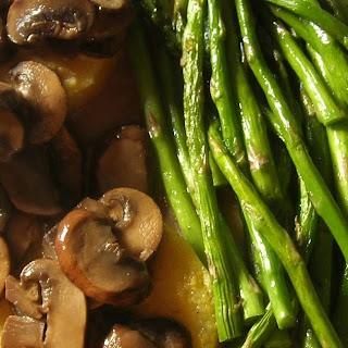 Creamy Mushrooms over Polenta with Asparagus