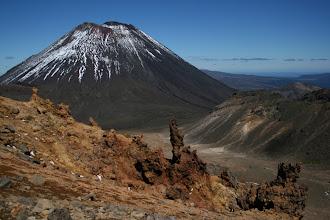 Photo: Mt. Ngauruhoe vom Tongariro Alpine Crossing aus
