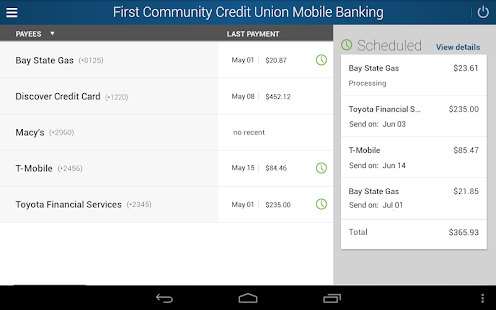 First Community Credit Union- screenshot thumbnail