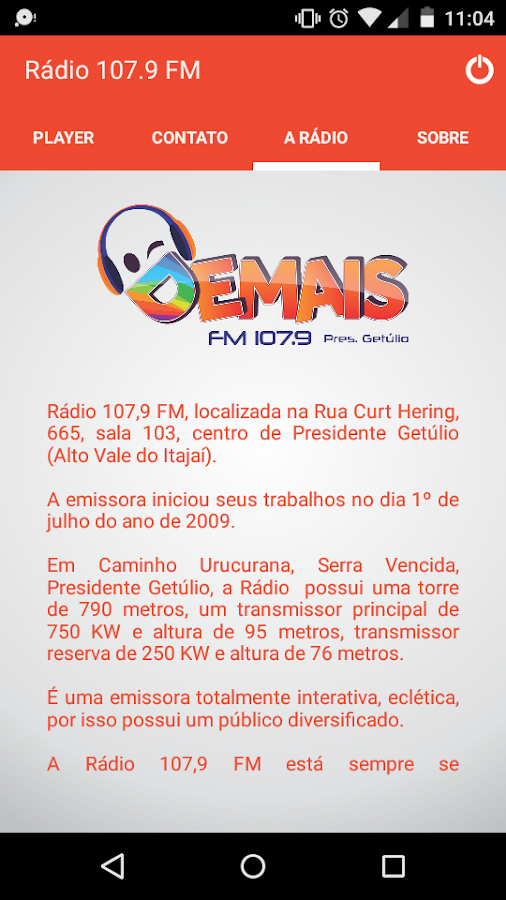 Demais FM 107.9- screenshot