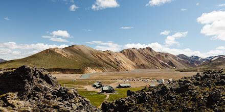 Photo: We started hiking at about 12:40, soon after our bus arrived at  Landmannalaugar