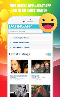 No registration dating chat