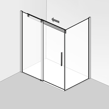 Duschkabinen_02 K2P Schiebetür 2-teilig mit seitenwand