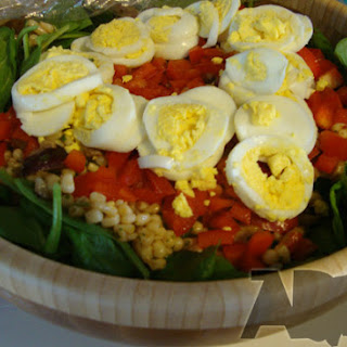 Chili Lime Corn and Spinach Salad.