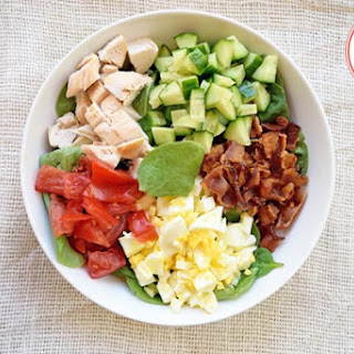 Low Carb Spinach Cobb Salad.