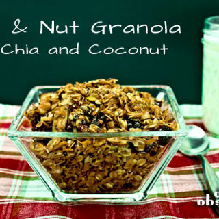 Fruit and Nut Granola with Chia Seeds and Coconut