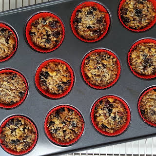 Mixed Berry Coconut Granola 'Muffins'.