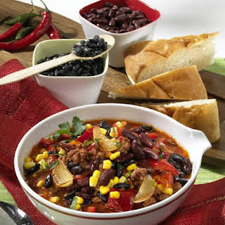 Chili with Corn and Black Beans.